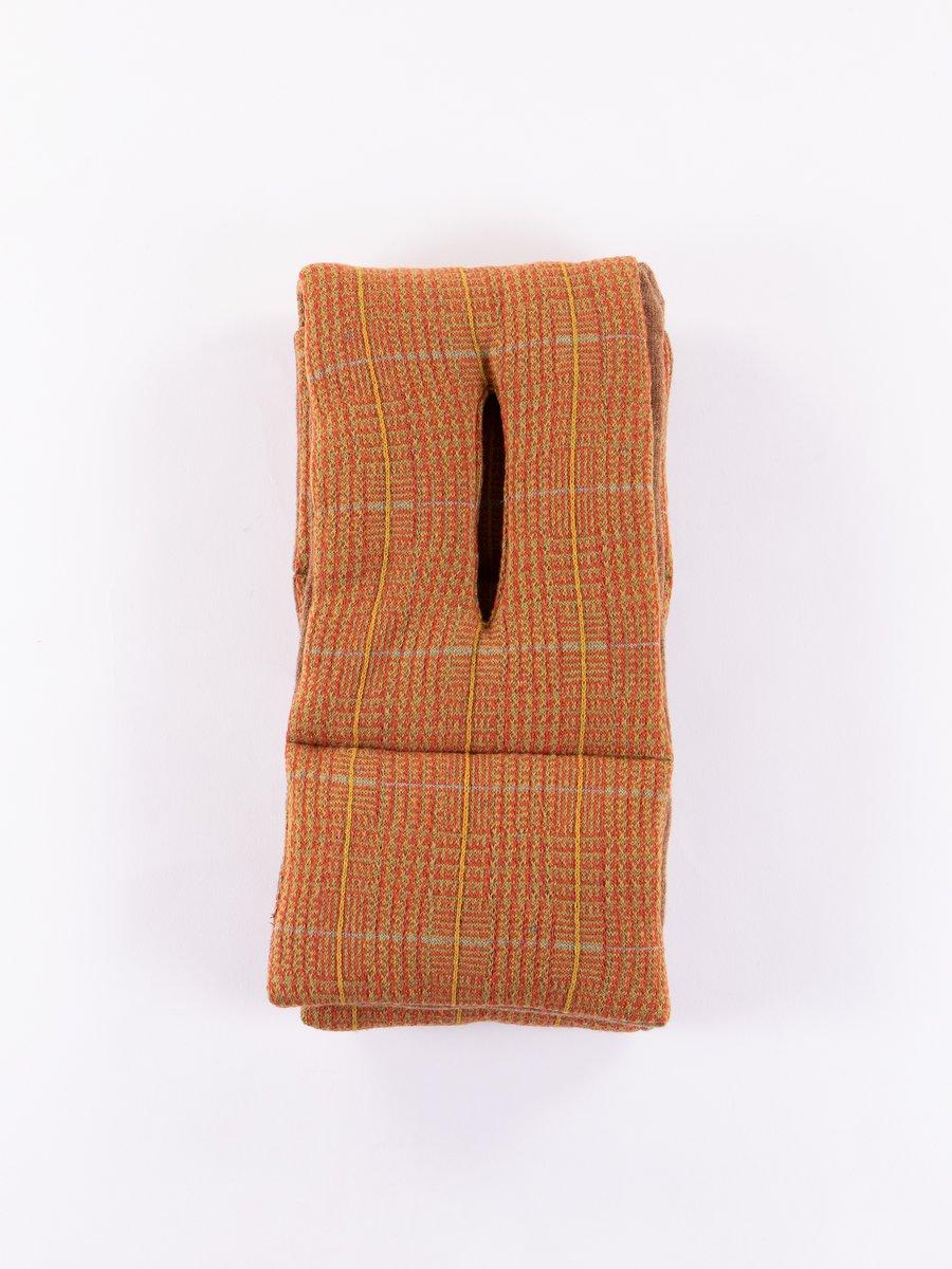 Orange Tweed Lamb Wool Kesa Scarf