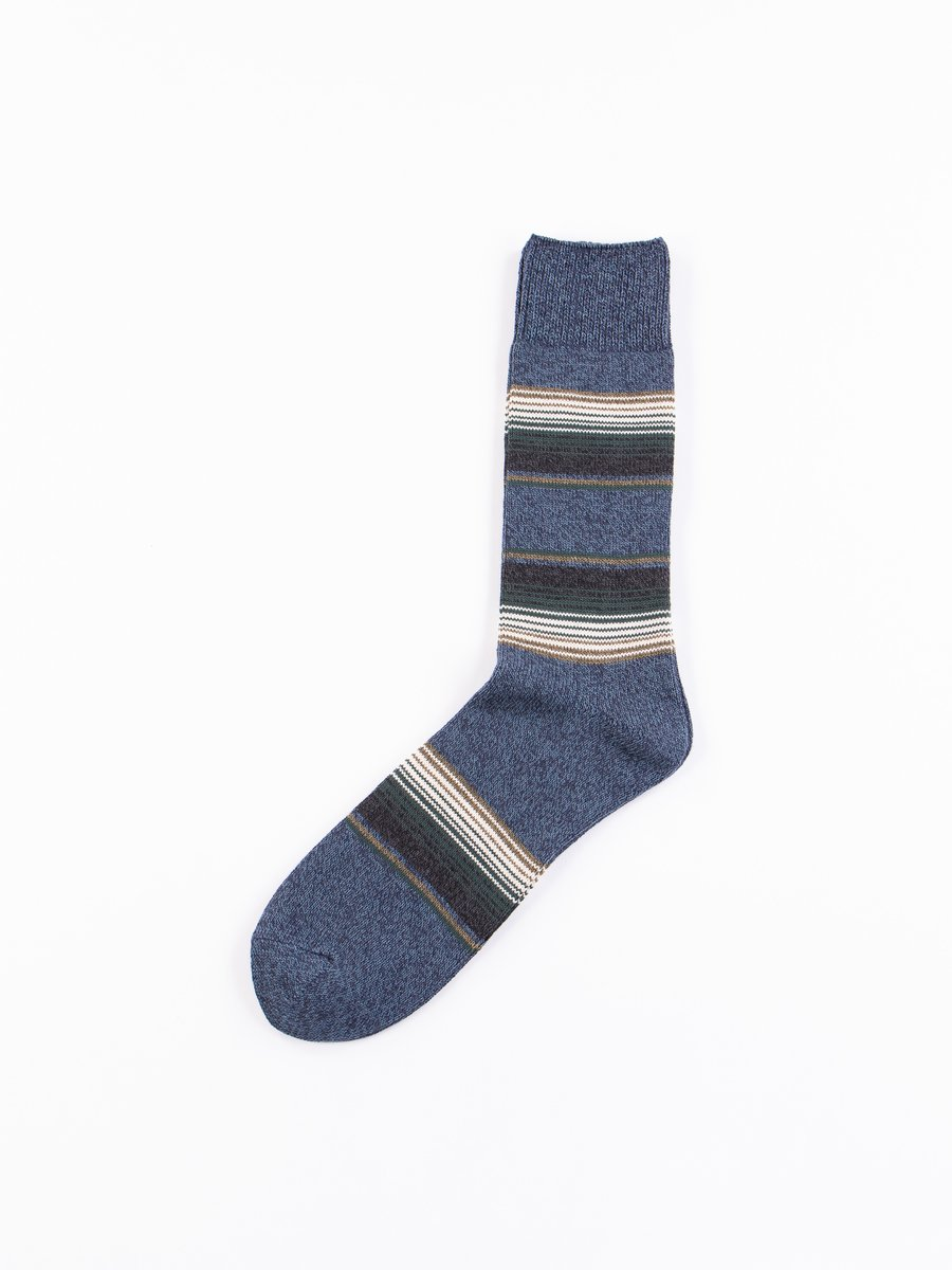 Mix Navy Baja Cali Stripe Socks
