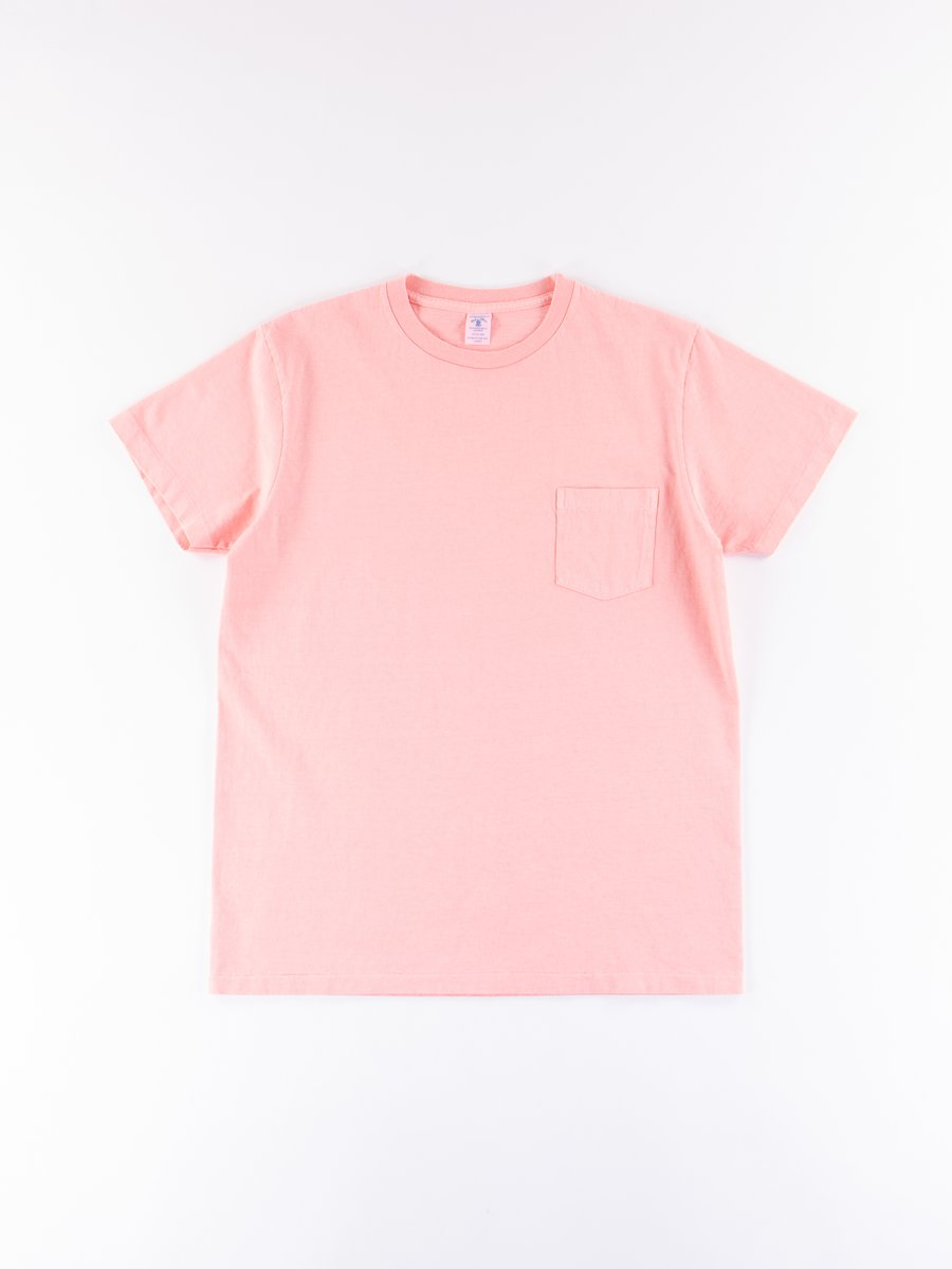 Pink Pigment Dye Pocket Tee