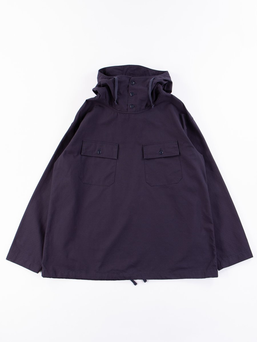 Dark Navy Cotton Ripstop Cagoule Shirt