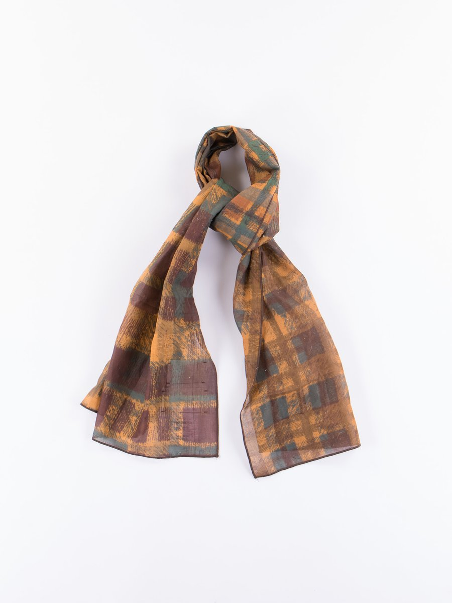 Green Check Madras Scarf