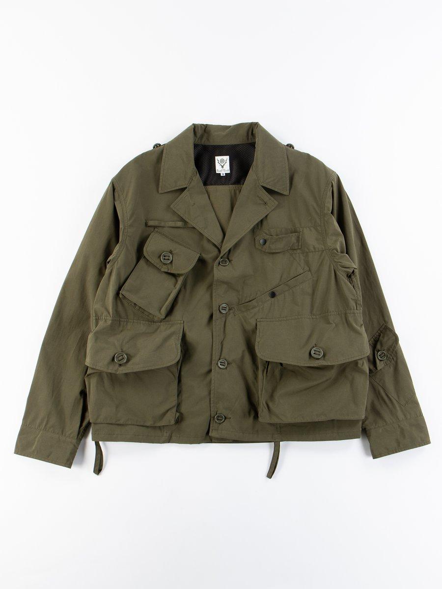 Olive Wax Coating Tenkara Shirt Jacket