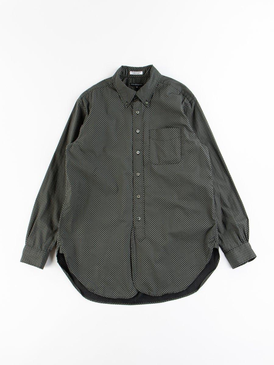 Black Cotton Mini Foulard 19th Century BD Shirt