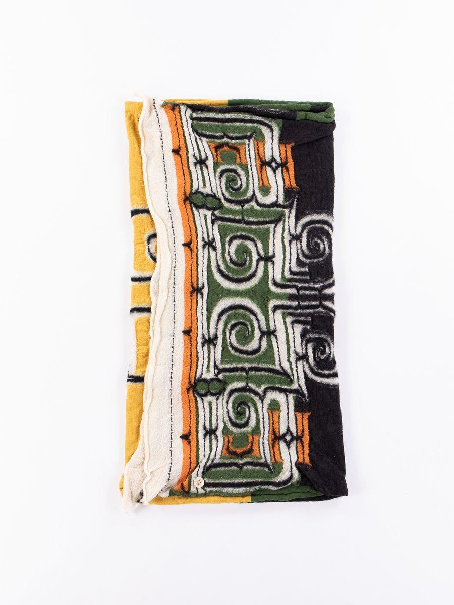 Black Rasta Ainu Compressed Wool Scarf