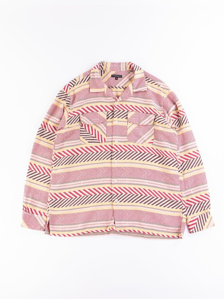 Multi Color Horizontal Cotton Jacquard Classic Shirt