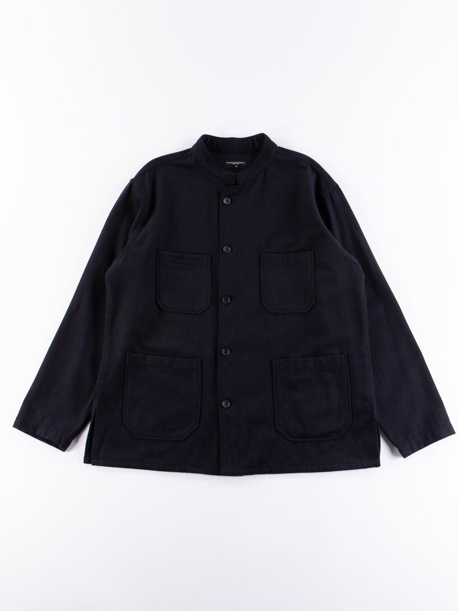 Dark Navy Wool Cotton Flannel Dayton Shirt