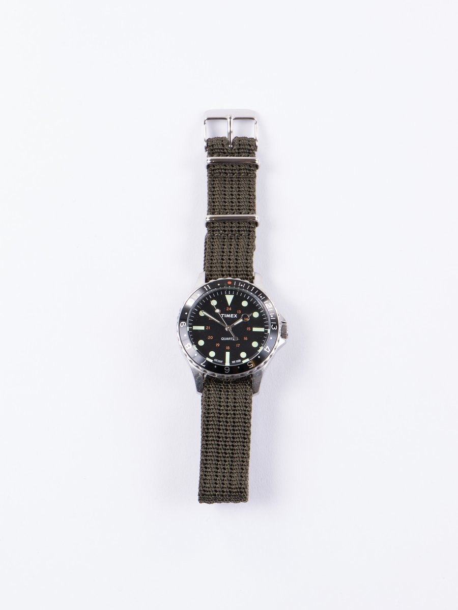 Steel/Black/ Olive Drab Strap Navi Harbor Watch