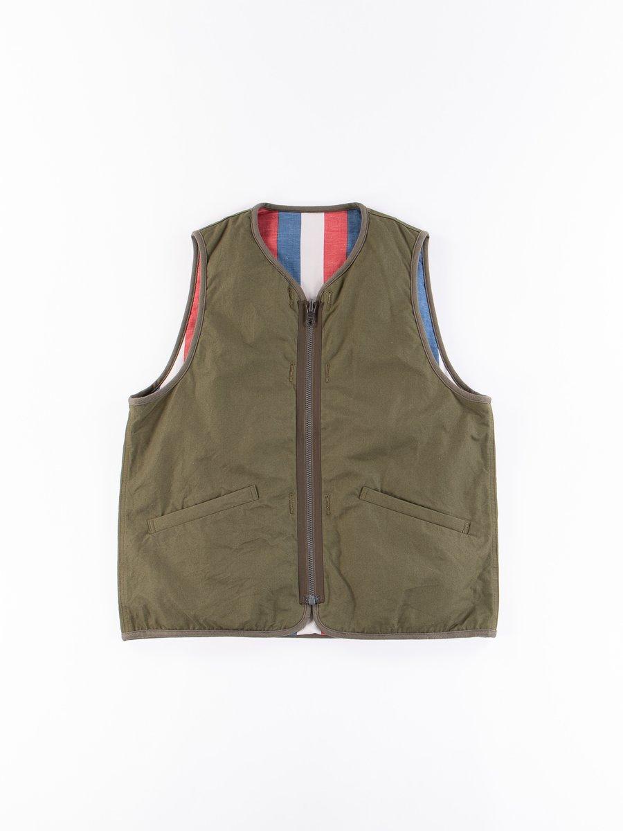 Olive Iris Cotton Liner Vest