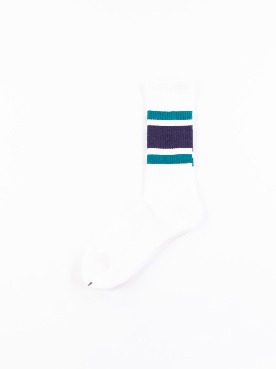 Blue/Green/Navy New School Socks