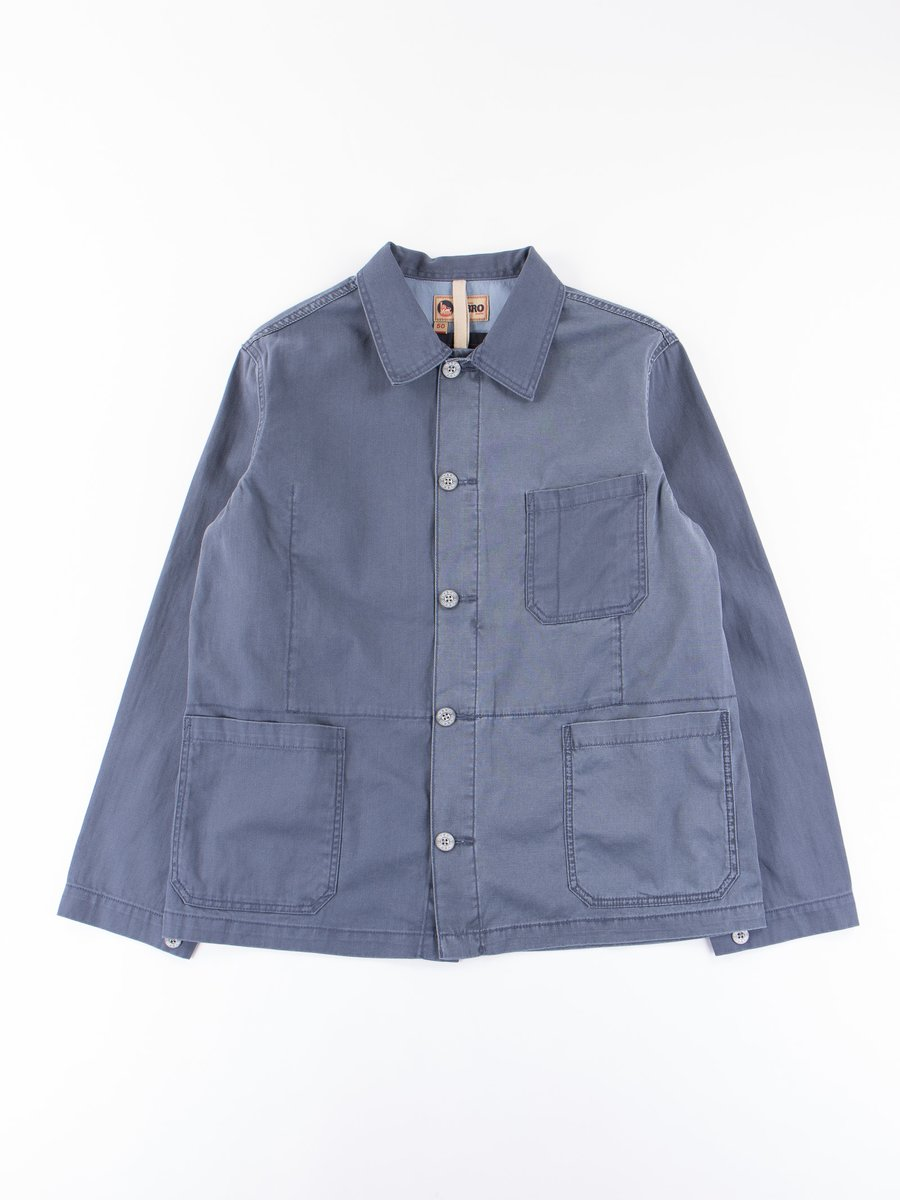 Lybro Washed Blue Mixed Field Jacket