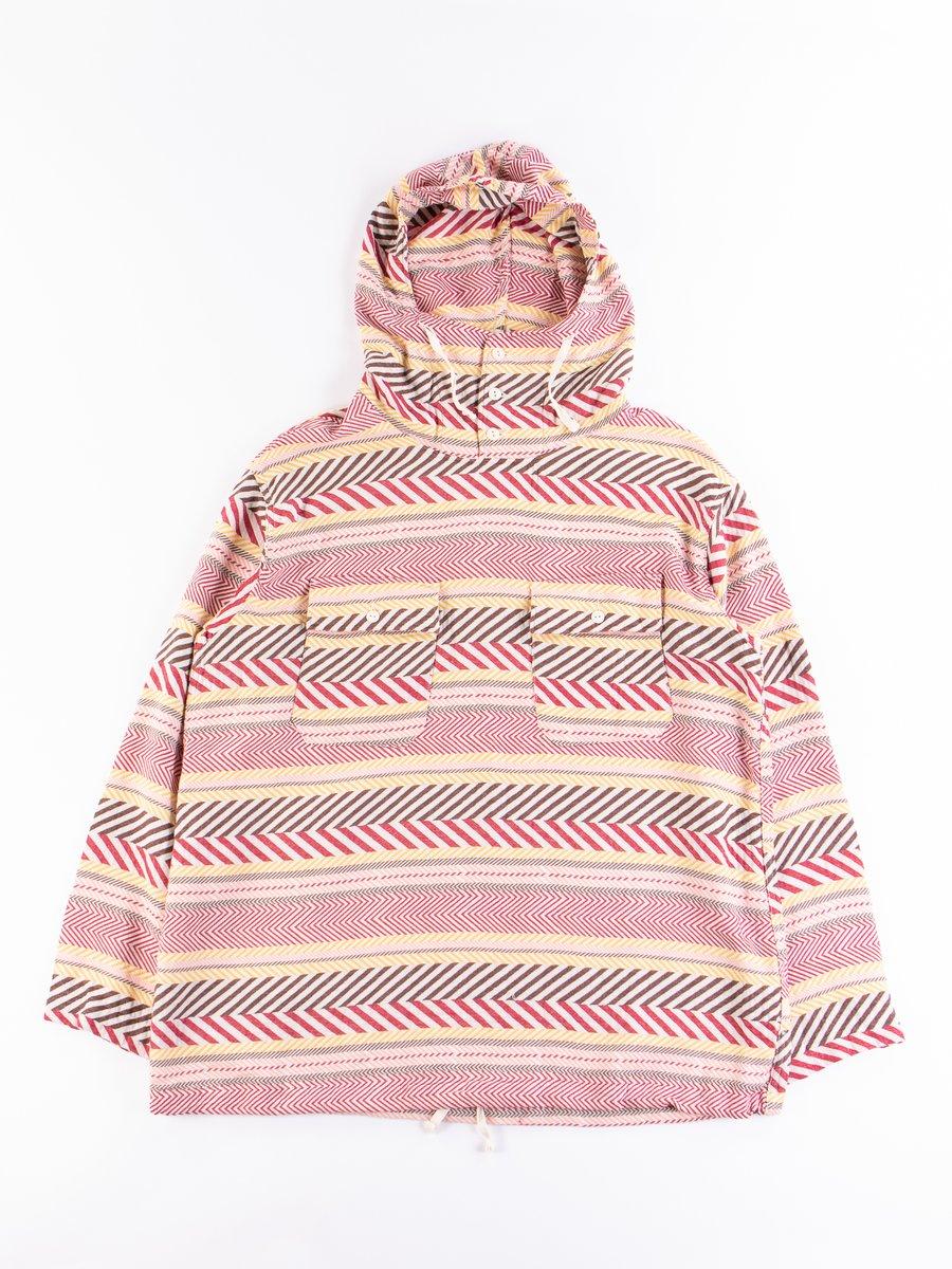 Multi Color Horizontal Cotton Jacquard Cagoule Shirt