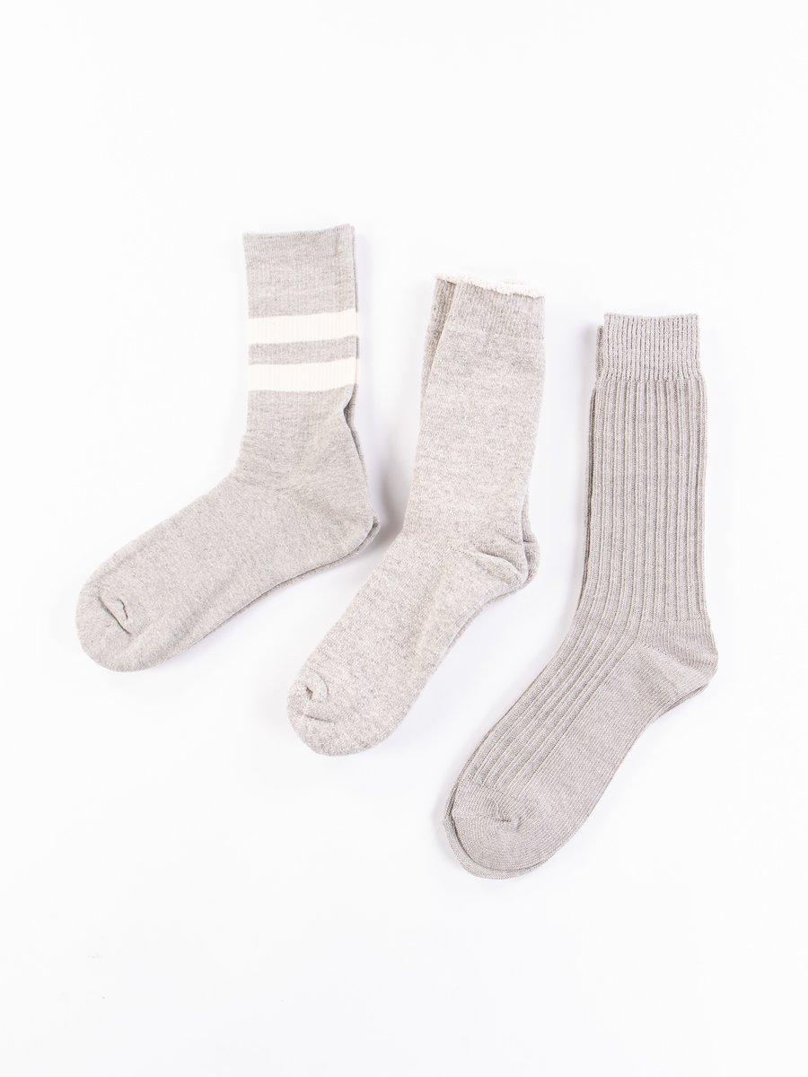 Mix Grey Organic Cotton Special Trio Socks