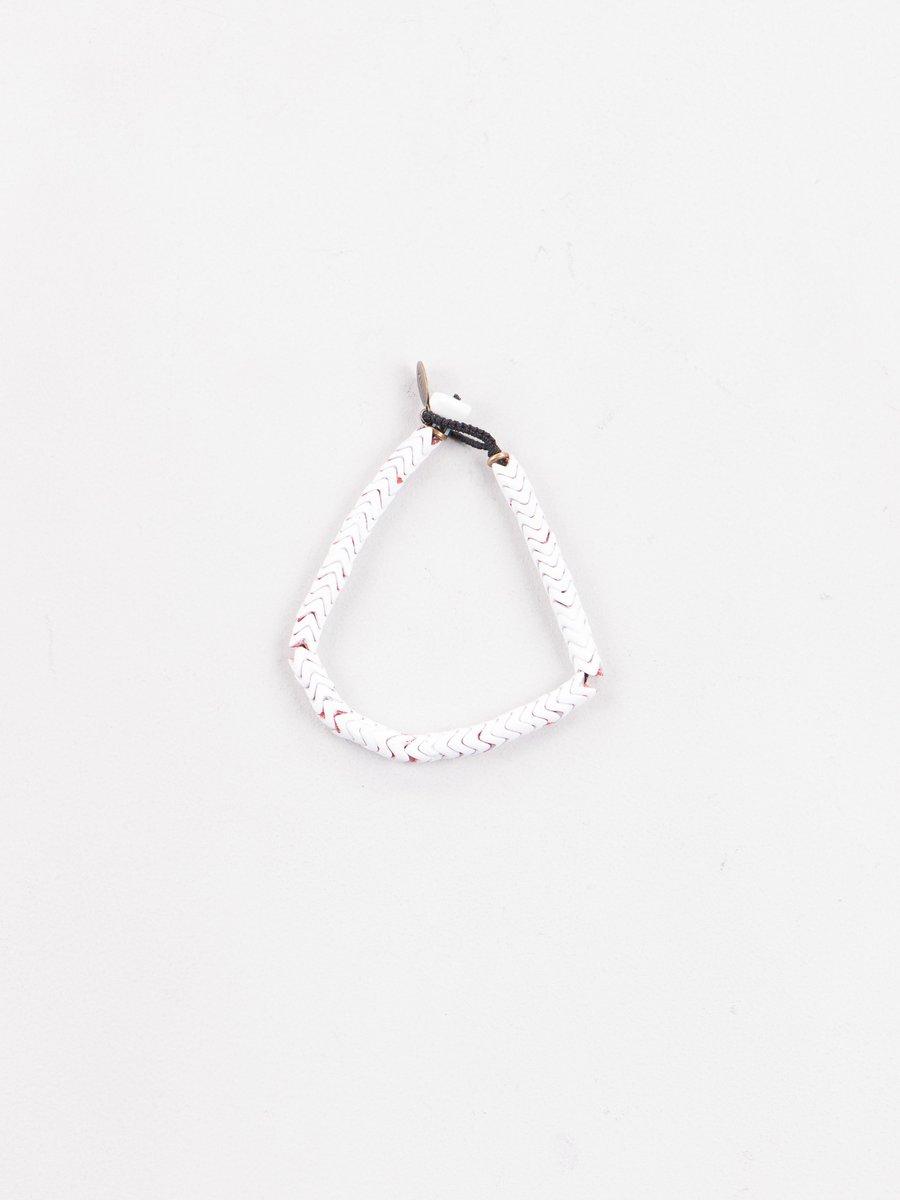 White Painted Snake Bead Bracelet