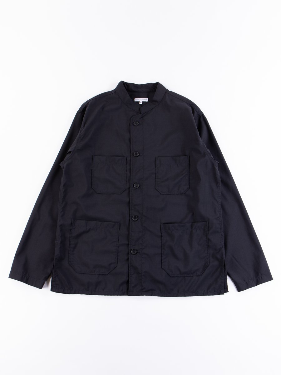 Dark Navy Tropical Wool Dayton Shirt