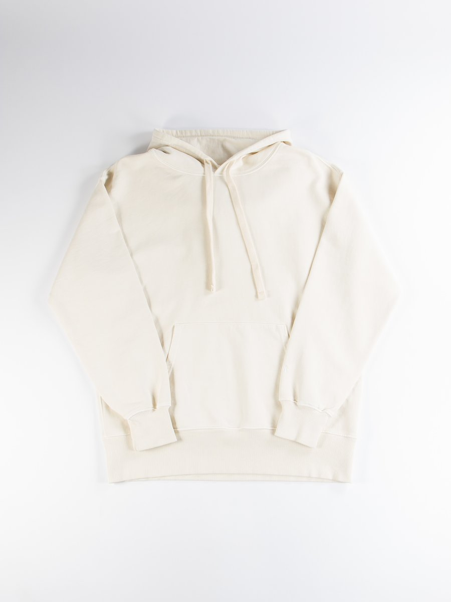 Natural Embroidered Logo Crew Hoodie