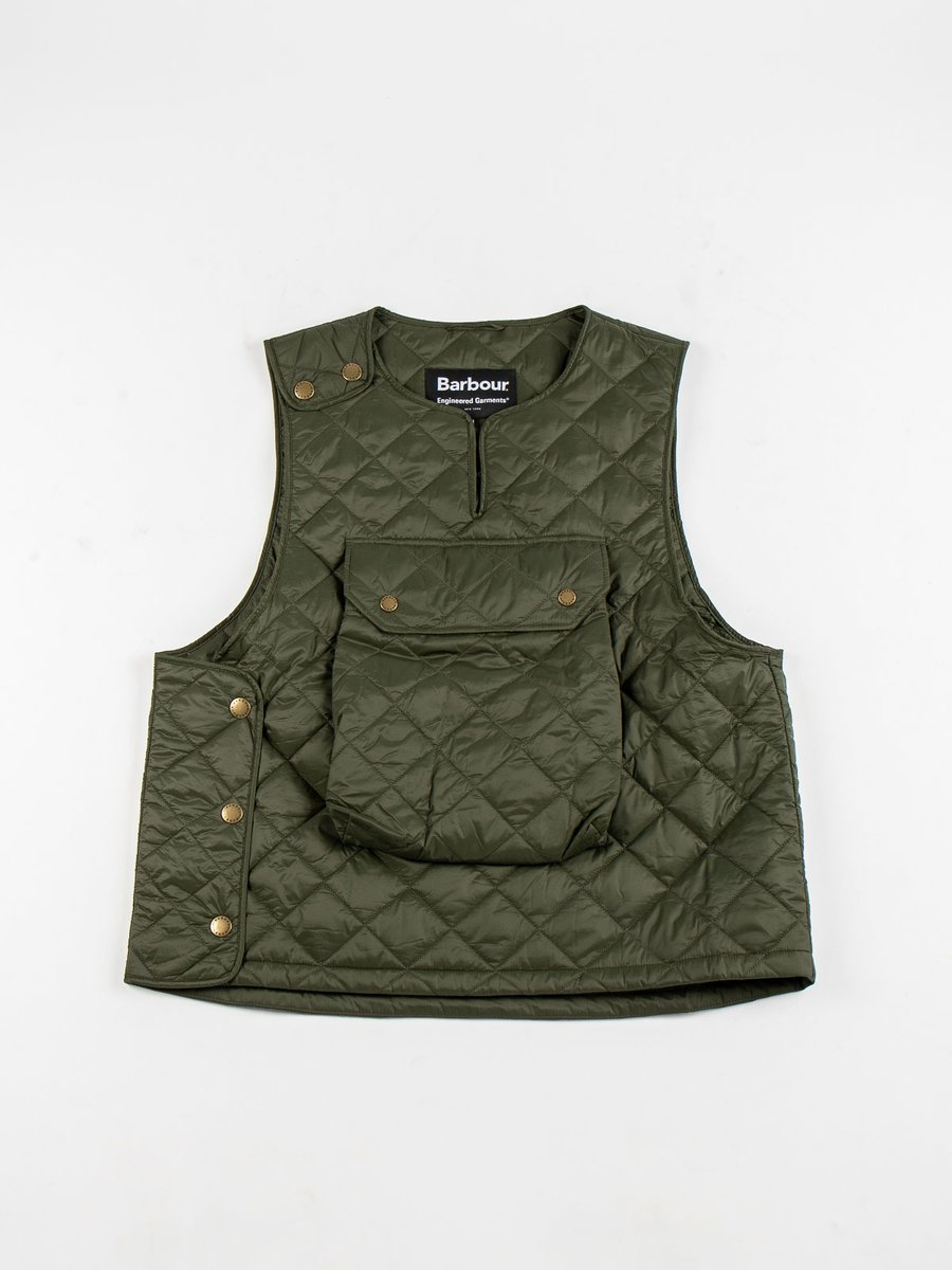POPO QUILTED VEST OLIVE