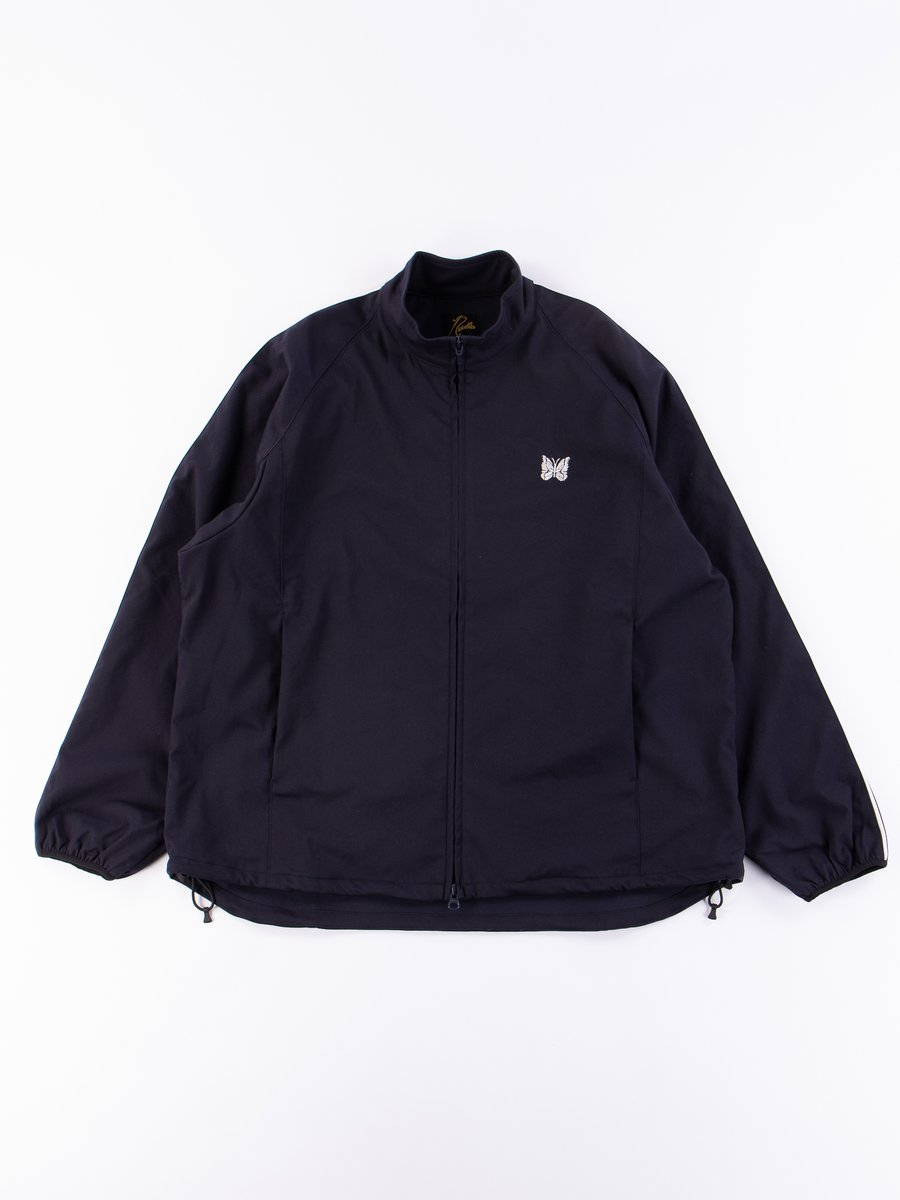 Navy Poly Dry Twill Run–Up Jacket
