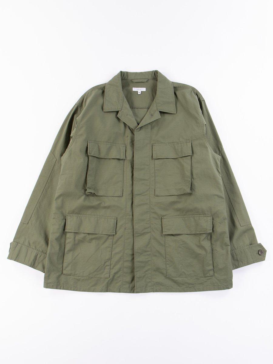 Olive Cotton Ripstop BDU Jacket