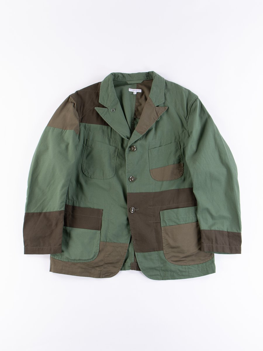 Olive Cotton Ripstop Bedford Jacket