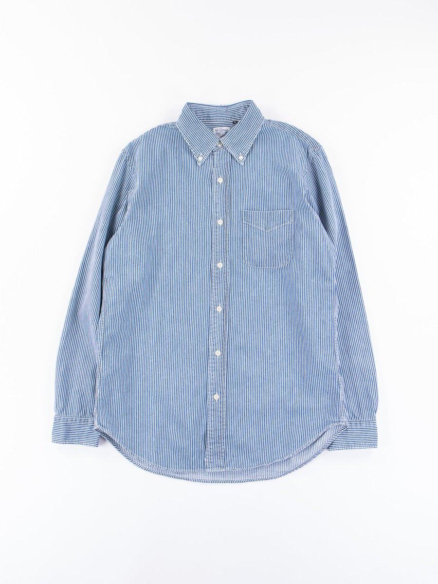 Blue Denim Hickory Stripe BD Shirt