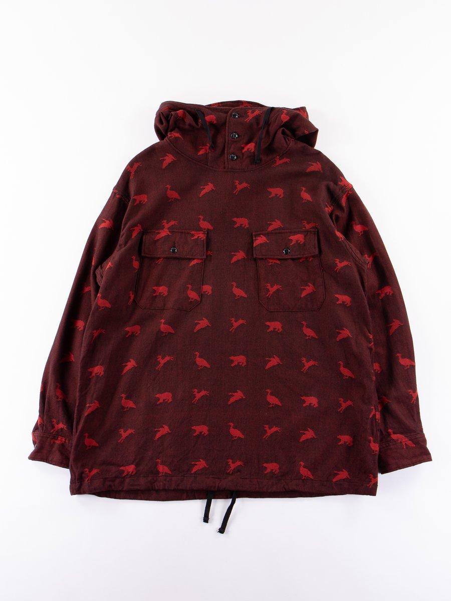 Black/Red Game Animal Jacquard Cagoule Shirt