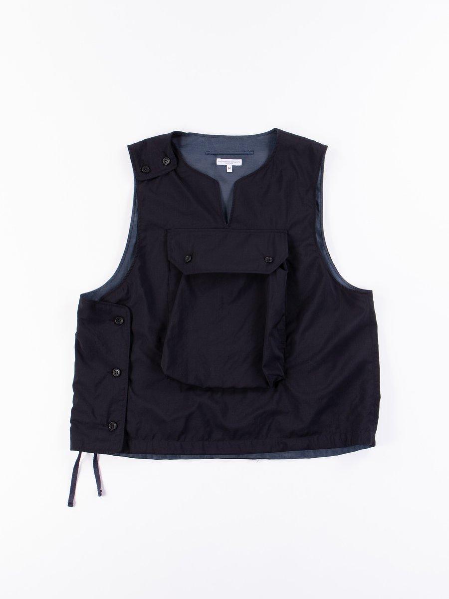 Dark Navy Tropical Wool Cover Vest