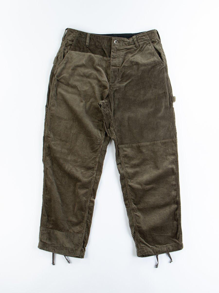 Olive Cotton 6W Corduroy Painter Pant
