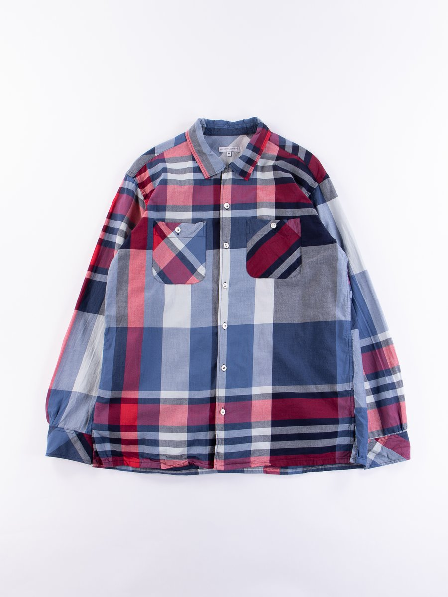 Navy/Red Big Madras Plaid Classic Shirt