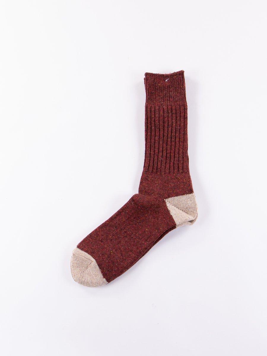 Wine Fleck Wool Knit Socks