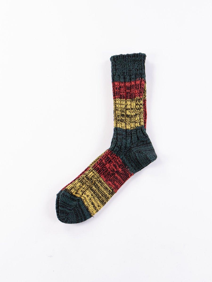 Green/Red/Yellow Mixture Crew Socks