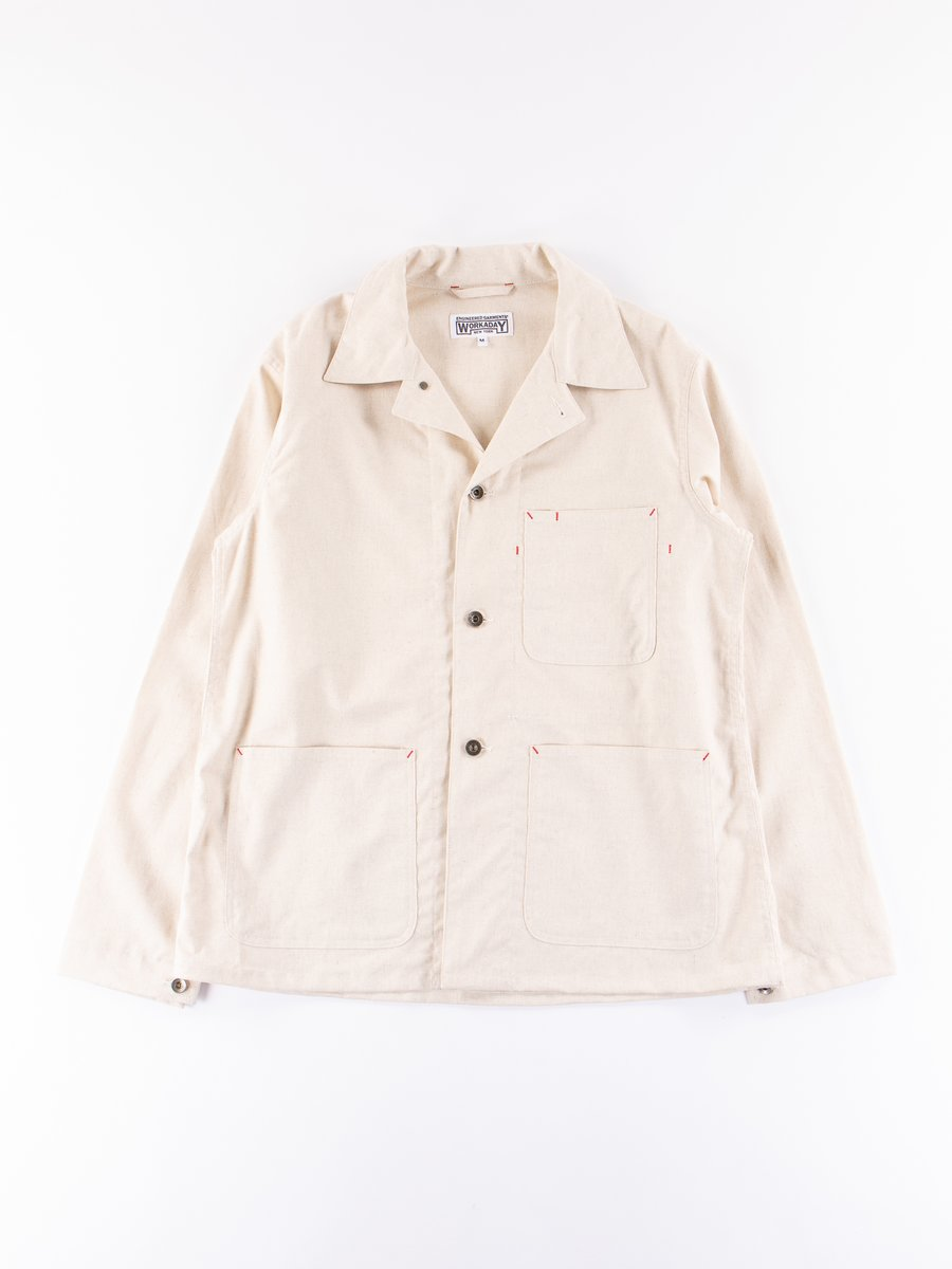 Natural Cotton Linen Utility Jacket