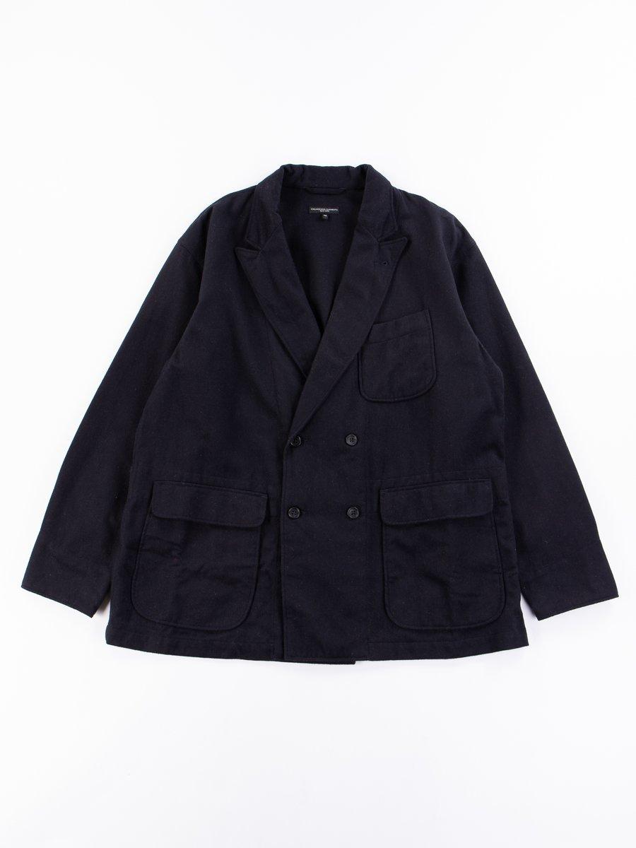Dark Navy Wool Cotton Flannel DL Jacket