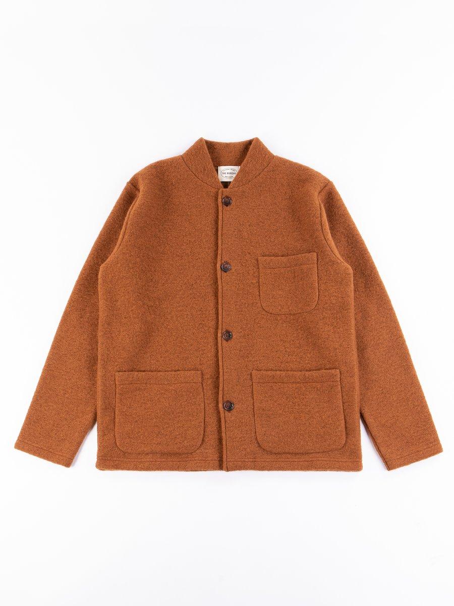 Cumin Wool Fleece Knitwork Jacket
