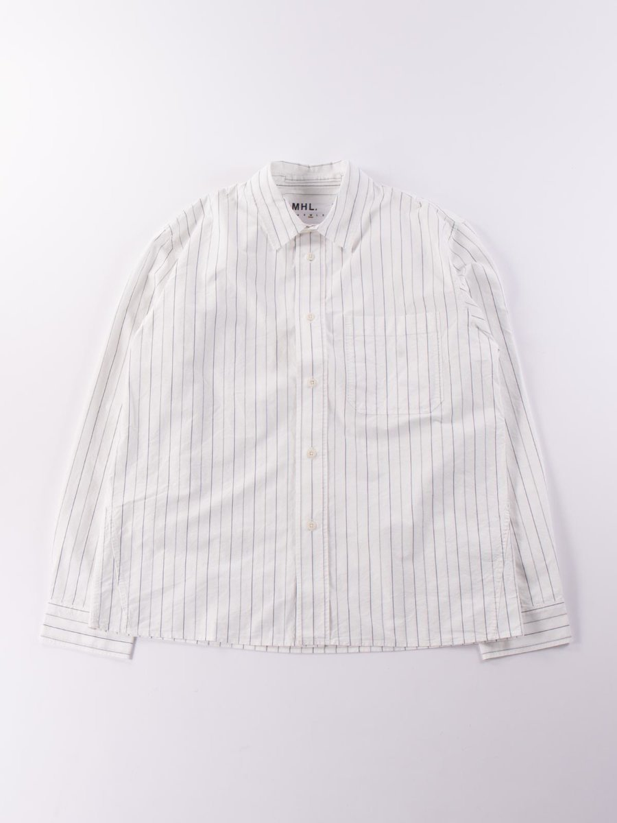 MHL PAINTER SHIRT OFF WHITE NAVY STRIPE