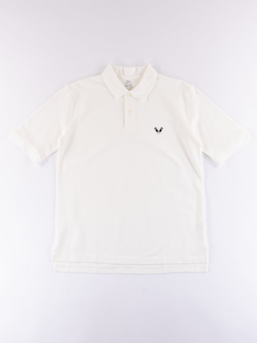 White Zimbabwe Cotton Polo Shirt