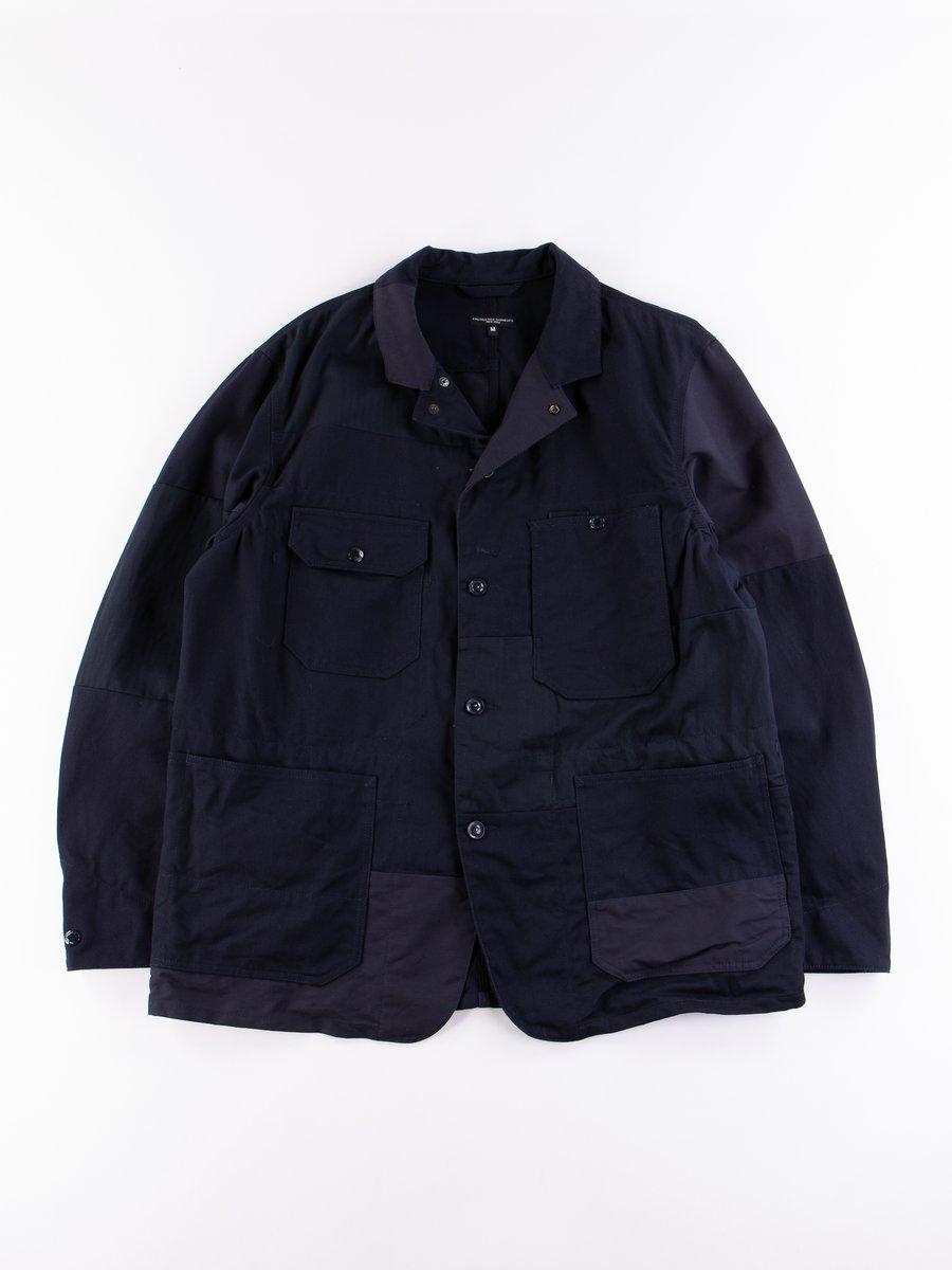 Dark Navy Cotton Heavy Twill Logger Jacket
