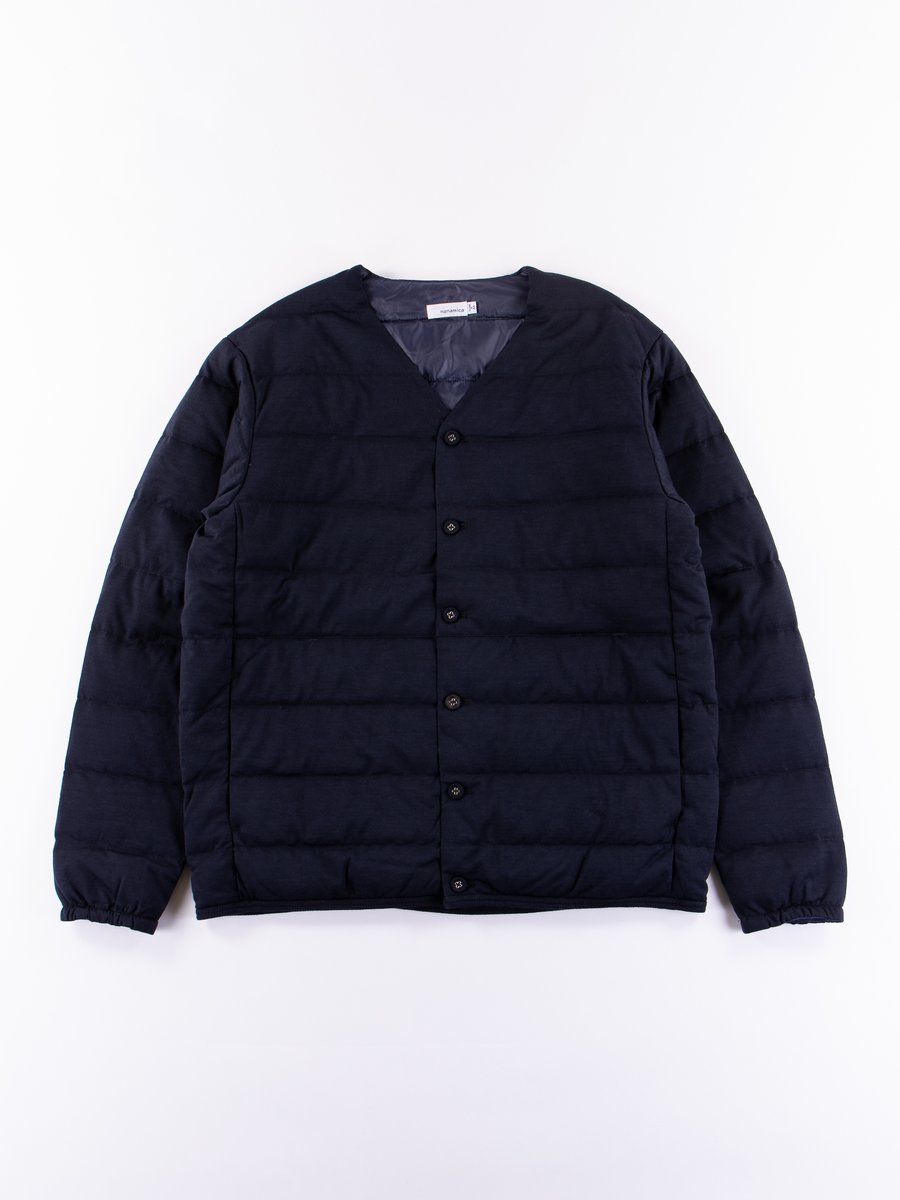 Navy Down Cardigan
