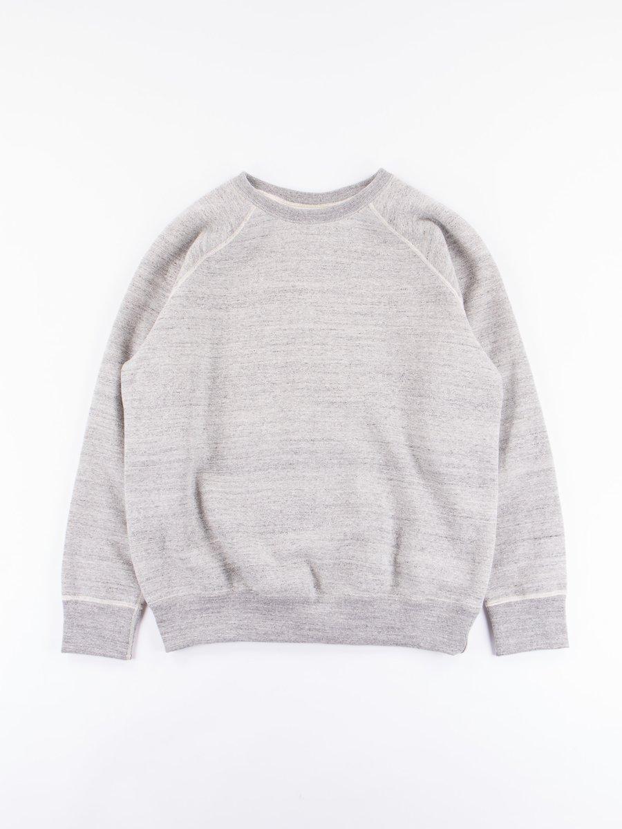 Grey Loop Wheel Crewneck Sweatshirt