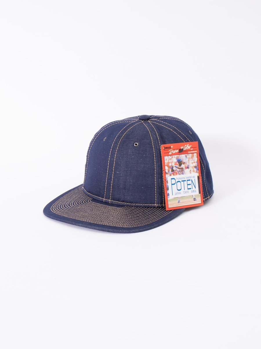 NAVY COTTON LINEN CAP