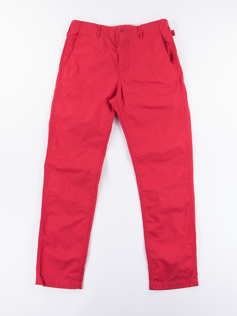 Red Cotton Ripstop Ground Pant