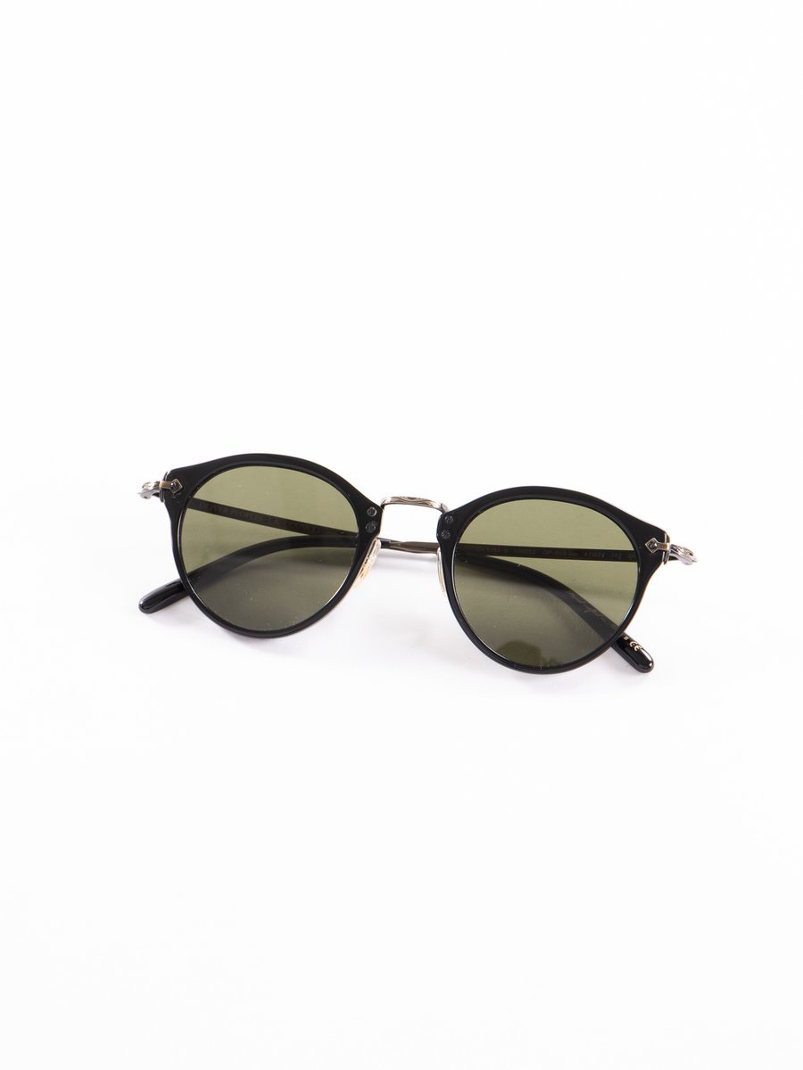 Black–Antique Gold/Green OP–505 Sunglasses