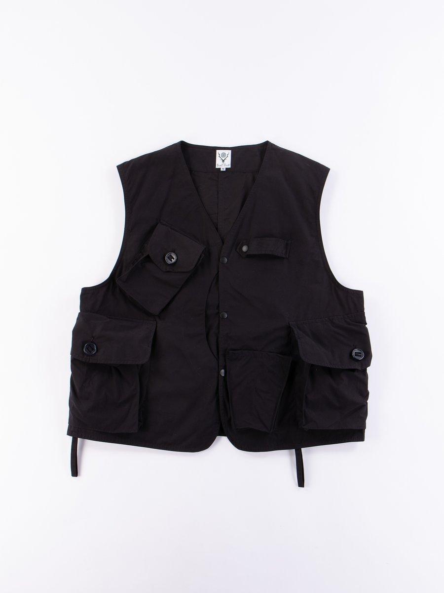 Navy Wax Coating Tenkara Vest