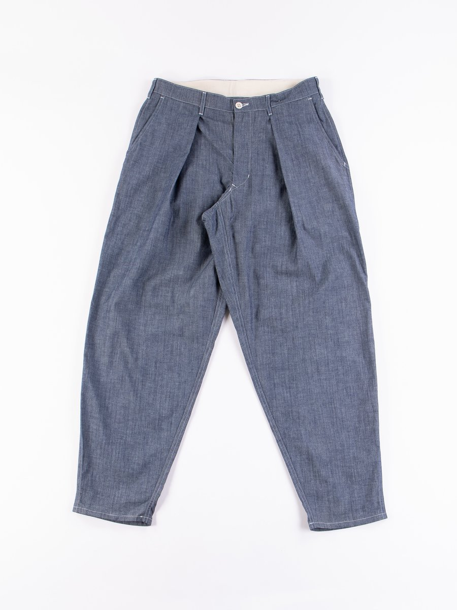 Blue Chambray Riding Pant