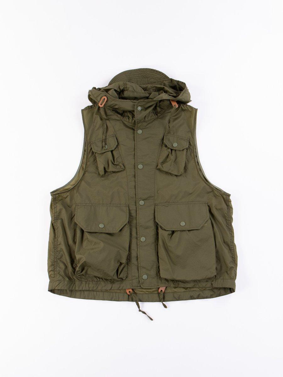 Olive Nylon Micro Ripstop Field Vest