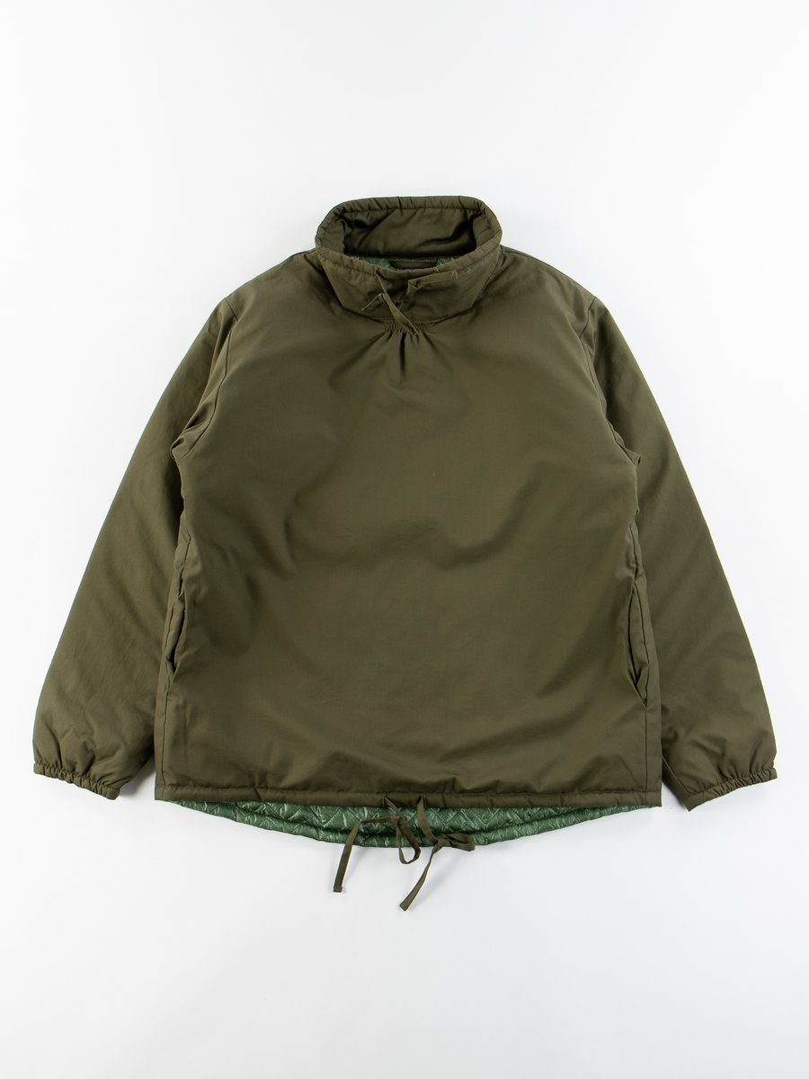 Olive Insulated Mock Neck Pullover
