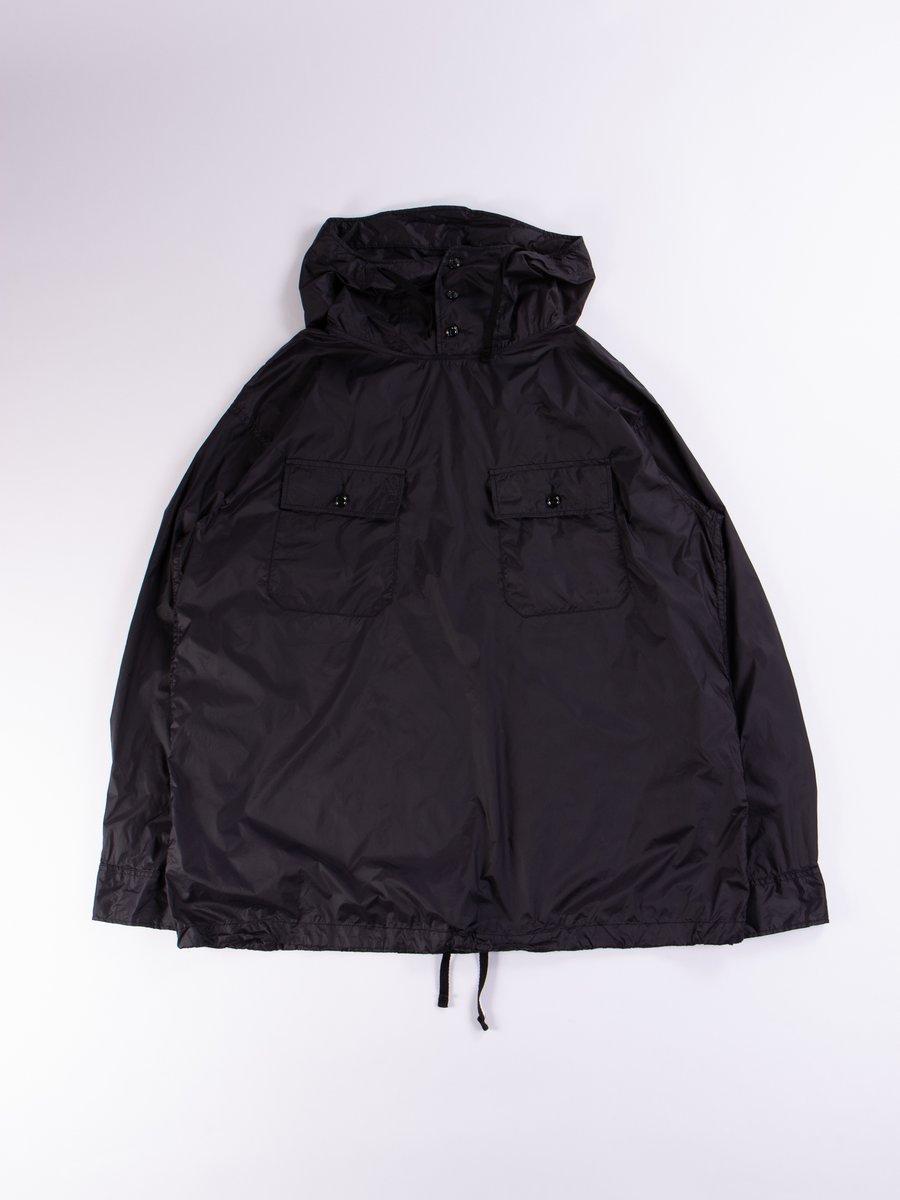 Black Nylon Taffeta Cagoule Shirt