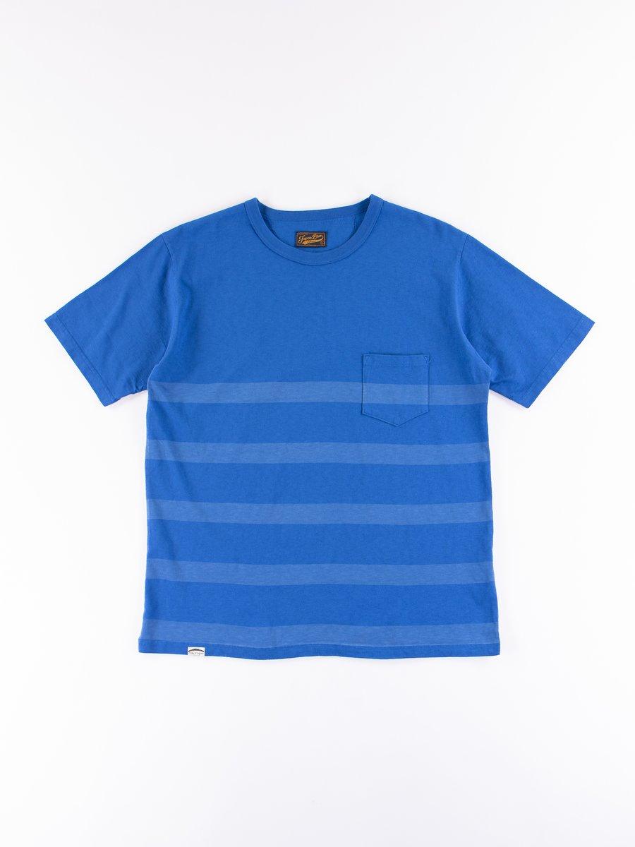 Blue Stripe Cote D'Ivoire Cotton T–Shirt