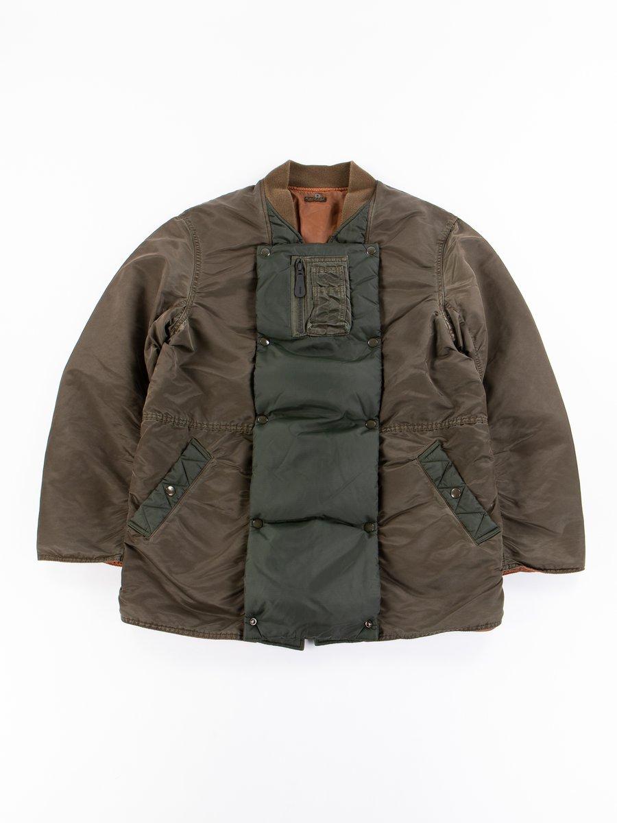 Khaki MA–1 Nylon Army Sha–Ka Jacket