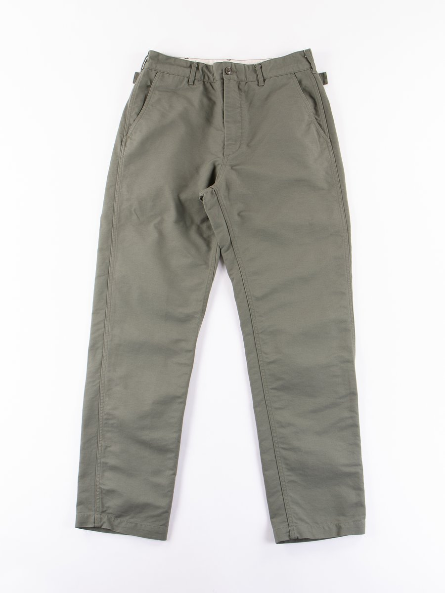 Olive Cotton Double Cloth Ground Pant