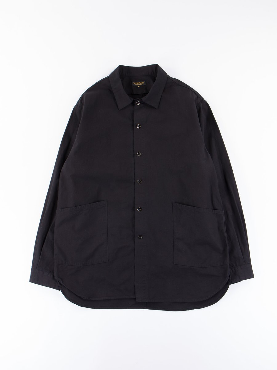 Black Gardener Shirt Jacket